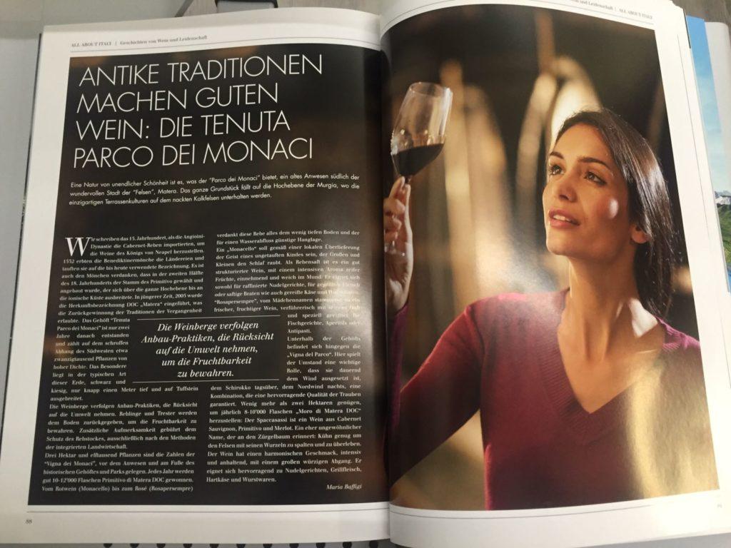 all-about-italy-rivista-tedesca-tenuta-parco-dei-monaci-produzione-vino-matera-basilicata
