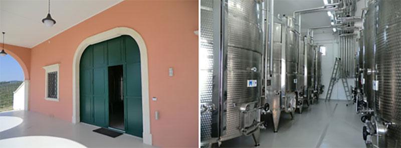 ingresso-principale-vinificatori-tenuta-parco-dei-monaci-azienda-agricola-vitivinicola-produzione-vino-primitivo-doc-monacello-rosapersempre-spaccasassi-matera-basilicata